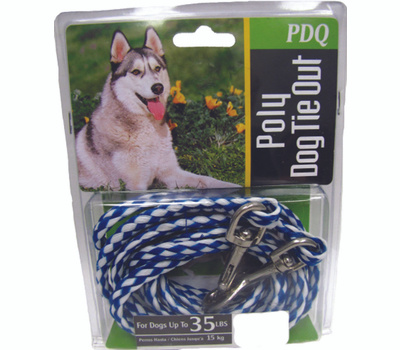 Boss Pet Q241000099 Tie Out Dog Poly Rope 10Ft Pdq