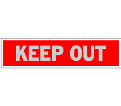 Hy Ko 417 2 Inch By 8 Inch Aluminum Self Adhesive Red Keep Out Sign