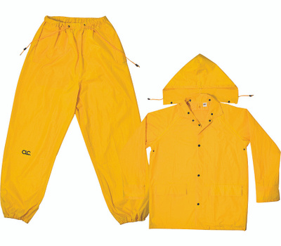 Custom Leathercraft R102M Climate Gear Rain Suit Poly Yellow 3Pc Med