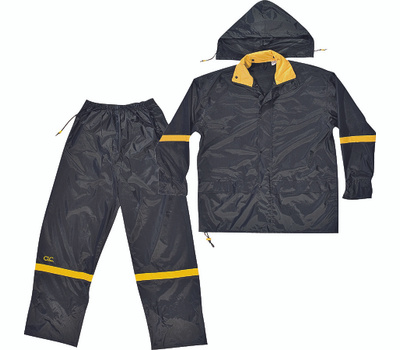 Custom Leathercraft R103L Climate Gear Deluxe Nylon 3 Piece Rain Suit Large