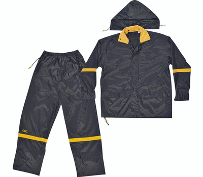 Custom Leathercraft R1032X Climate Gear Deluxe Nylon 3 Piece Rain Suit Xxlarge