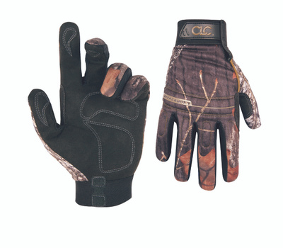 Custom Leathercraft M125X Back Country Camo Synthetic Leather Gloves Extra Large
