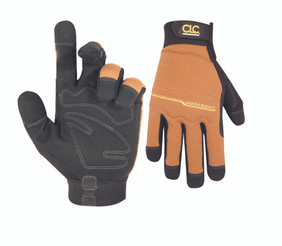 Custom Leathercraft 124X Workright Padded Synthetic Palm Gloves Extra-Large