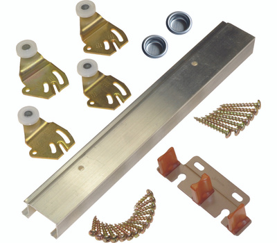 LE Johnson 2200602D 2 Door 3/4 Or 1-3/8 Bypass Hardware Set 60 Inch Overall