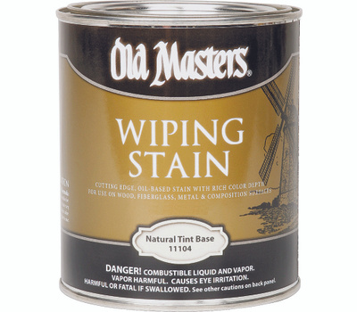 Old Masters 11104 Wiping Stain Natural Tint Base Quart