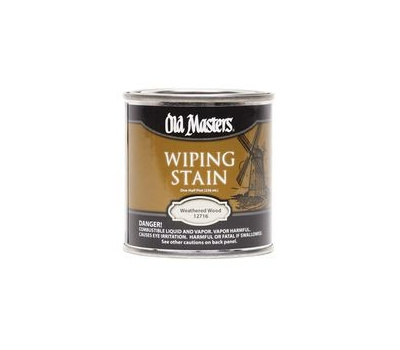 Old Masters 12716 Wiping Stain Weathered Wood 1 2 Pint