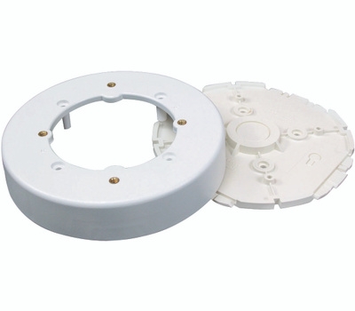 Wiremold NMW4 On Wall White Round Fixture Box