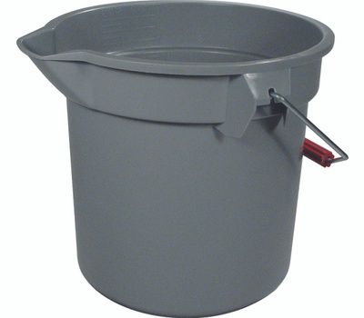 Rubbermaid Commercial FG261400GRAY Brute 14 Quart Round Bucket