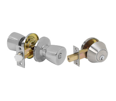 Tell CS300TD-ALT-US15-SCC Alton Keyed Entry And Single Cylinder Deadbolt Satin Nickel Keyed-Alike Grade 3