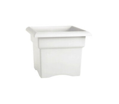 Bloem VER1409 Planter Box Sq White 14in