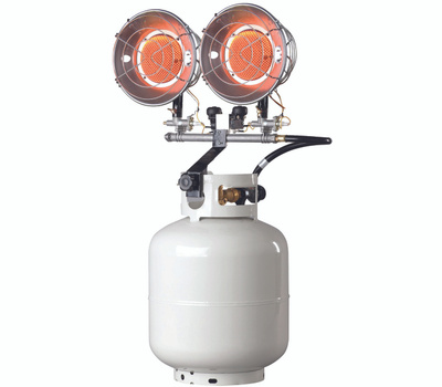 Mr Heater F242650 Propane Heaters Portable Infra Red Double Tank Top 28000 Btus