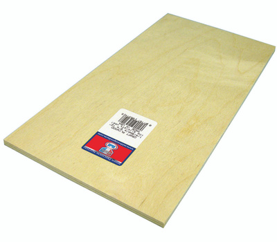 Midwest Products 5314 Plywood Craft 1/4 X 6X12in 6Pk