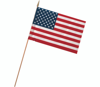 Valley Forge Flag USE8D 8 Inch By 12 Inch Stick Flags