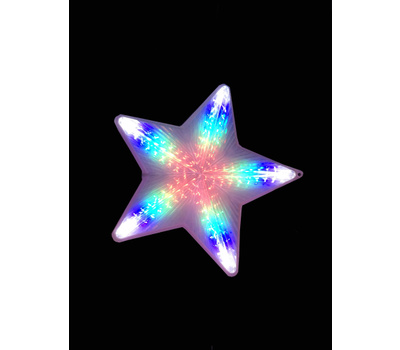 Santas Forest 57301 Star Multi 5-Point Led 19.5In