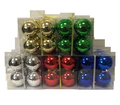 Santas Forest 99909 Shatterproof Balls Asst Colors 8Pc 80Mm