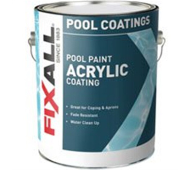 California Products 2460-1 White Swimming Pool Paint Gallon Water Based  Acrylic
