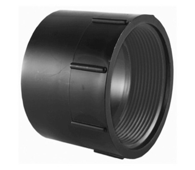 Charlotte Pipe ABS 00101  1000HA 3 Inch Abs/Dwv Black Female Adapter Hub By Female Iron Pipe