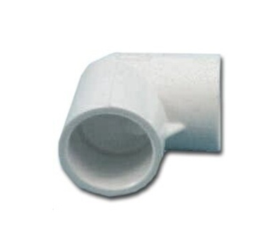 Lasco Fittings 30720 2 Inch PVC 90 Degree Elbow Slip X Slip
