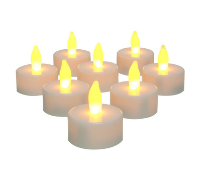 Sterno Home ENXP10026WH8 Flameless Tea Light Candle White 8 Pack