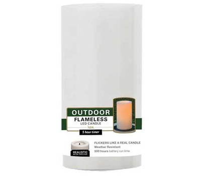 Sterno Home Inc CGT20304WH 3X4 WHT Pillar Candle