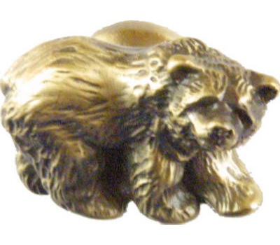 Sierra Lifestyles SL-681294 Rustic Lodge Collection Grizzly Bear Cabinet Knob Antique Brass