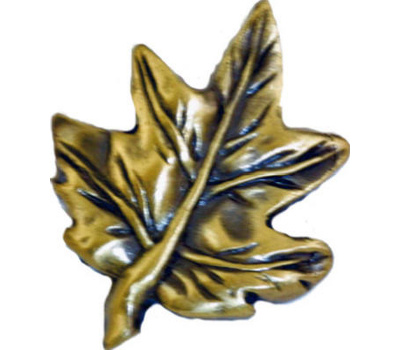 Sierra Lifestyles SL-681320 Rustic Lodge Collection Maple Leaf Cabinet Knob Antique Brass