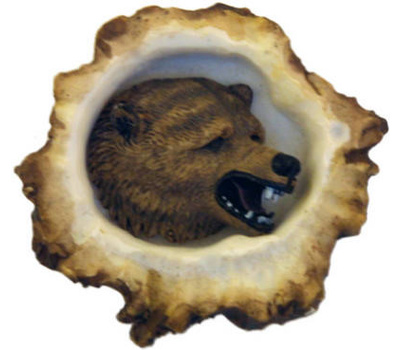 Sierra Lifestyles SL-681353 Rustic Lodge Collection Grizzly Bear Deer Burr Cabinet Knob