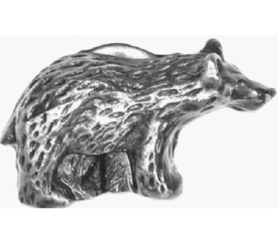 Sierra Lifestyles SL-681380 Rustic Lodge Collection Bear Facing Right Cabinet Knob Antique Brass