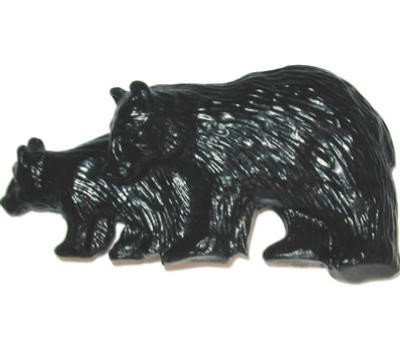 Sierra Lifestyles SL-681409 Rustic Lodge Collection Bears Cabinet Pull Black