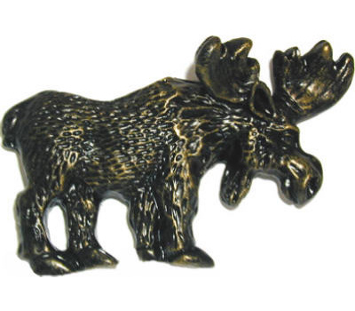Sierra Lifestyles SL-681449 Rustic Lodge Collection Moose Cabinet Pull Bronzed Black