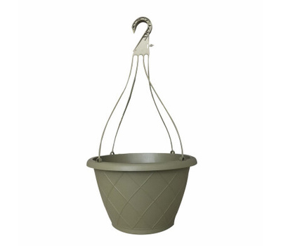True Temper HH1224OG Southern Patio 12 Inch Hanging Basket With Hanger