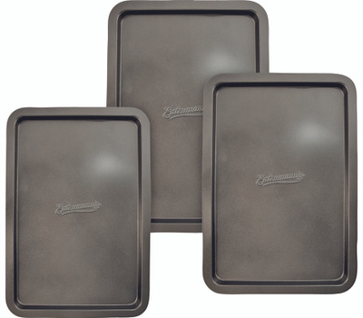 Dura Kleen ENT49011 Entenmann's Cookie Sheet Set Carb Stl 3 Pc