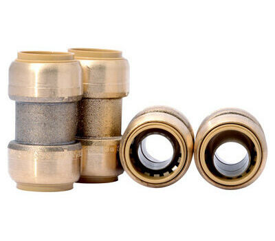 """1/"""" Coupling Push Fitting~~Bag of 4~LEAD FREE!"""