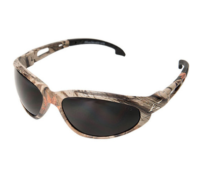 Edge Wolf Peak SW116CF Dakura Safety Glasses Camouflage With Smoke Lens