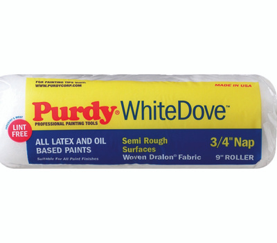 Purdy 140672094 White Dove 9 Inch 3/4 Inch Nap Roller Cover