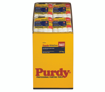 Purdy 14B863400 White Dove 9 Inch By 3/8 Inch Nap Fabric Roller Cover Bin 47 Packs Of 4