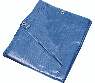 ProSource T1216BB90 Mintcraft Blue Medium Duty Polyethylene Tarpaulin 12 By 16 Foot