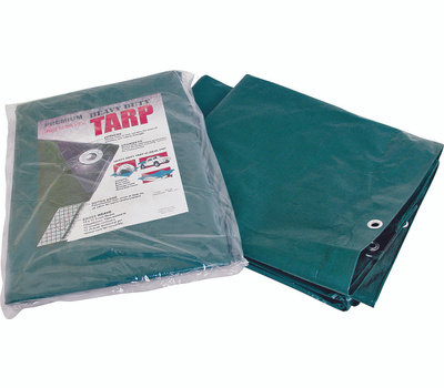 ProSource T2030GS140 Heavy Duty Green And Silver Poly Tarpaulin 20 Foot By 30 Foot