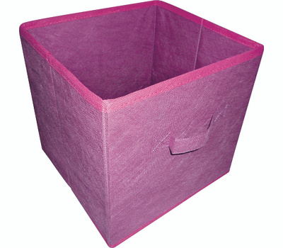 HomeBasix 05000862P Non-Woven Folding Storage Bin 11 By 10-1/2 By 10-1/2 Inches Purple And Fuchsia