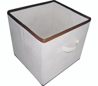 HomeBasix 05000862N Non-Woven Folding Storage Bin 11 By 10-1/2 By 10-1/2 Inches Tan