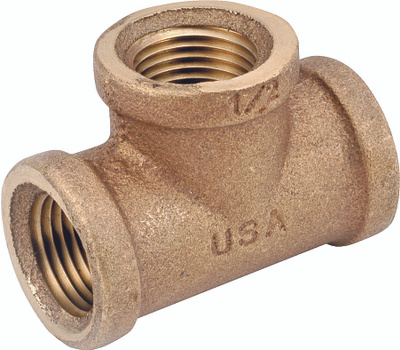 Anderson Metal 738101-16 Tee Brass 1fpt
