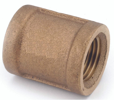 Anderson Metal 738103-06 Coupling Brass 3/8fpt