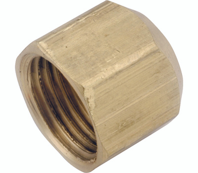 Anderson Metal 754040-08 Cap Flare Brass 1/2 In
