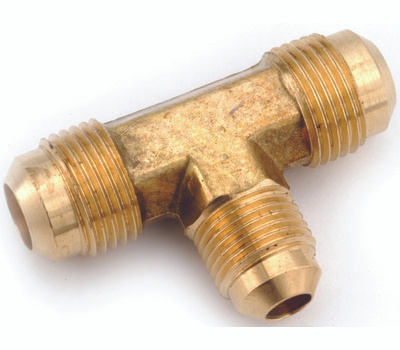 Anderson Metal 754059-080806 Tee Flare Brass 1/2x1/2x3/8