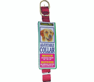 Petmate 15706 Collar Nylon Red Adjustable 10 To 14 Inch