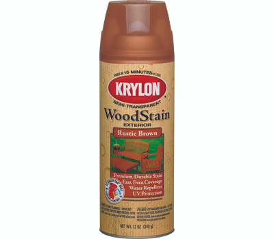 Krylon 3603 Exterior Stains Rustic Brown Semi Transpa Wood Stain Spray Paint