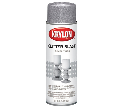 "Krylon K03802A00 ""Glitter Blast"" Spray Paint Silver Flash 5.75 Ounce"