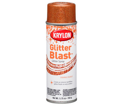 "Krylon K03807A00 ""Glitter Blast"" Spray Paint Orange Burst 5.75 Ounce"