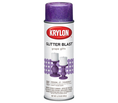 "Krylon K03813A00 ""Glitter Blast"" Spray Paint Grape Glitz 5.75 Ounce"