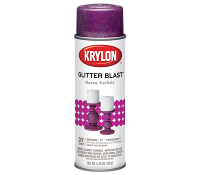 "Krylon K03815A00 ""Glitter Blast"" Spray Paint Fierce Fuchsia 5.75 Ounce"